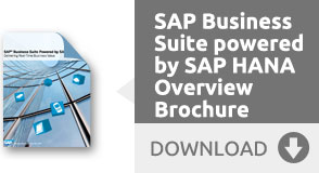 SAP Business Suite powered by SAP HANA Overview Brochure - Download